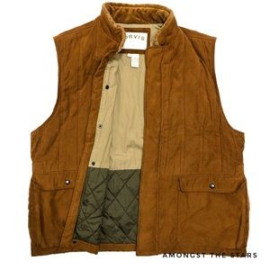 Orvis Hunting Fishing Quilted Padded Brown Vest